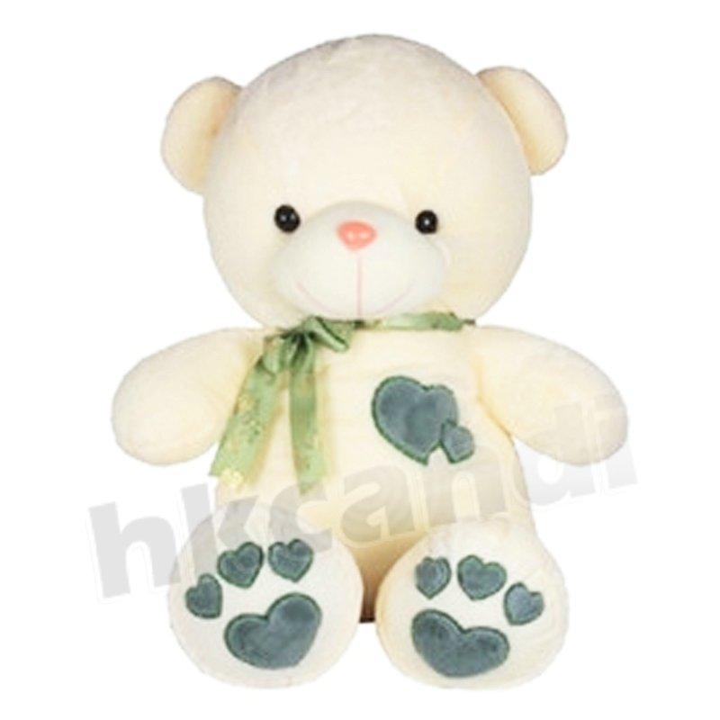 White Teddy Bears With Hearts And Roses Blue Heart Teddy Bear 45cm