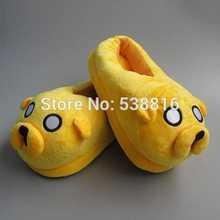 Warm Zapatillas Cartoon Adventure Time Jake Adultos Anime Indoor Shoes Zapatillas Novedad en Invierno(China (Mainland))