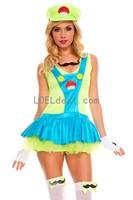 Green Super Mario Plumber Dress Costume