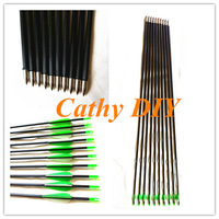 "6pcs 30"" carbon fiber arrow  for recurve bow 40pounds and traditional bow outdoor arrow hunter hunting arrow Archery equipment"