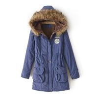 free shipping Women's winter jacket coat ladies padded cotton wholesale women's cotton cashmere coat Korean long section