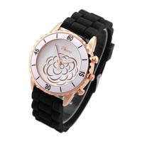 2014 New Fashion Watches for Women Analog Silicone Ladies Quartz Watch Rubber Brand Geneva Wristwatches women Dress watch Coupon