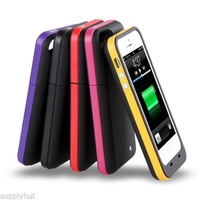 New arrival 2000mAh power pack plus for iphone5 External Backup Battery charger Case for iphone 5 5G via DHL  Free shipping