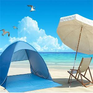New 2014 Portable Fashion Pop Up Beach Garden Tent Blue/Tourism Outdoor Sun Shade Sand Tent(China (Mainland))