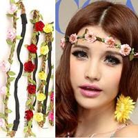 Wholesale - Peach blossom Head ornaments Hair band accessories Bohemia Sea side beach flower Many colors Unique