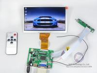 "Free shipping HDMI/VGA/2AV Reversing Remote Controller board+7""TFT AT070TN92 LCD Screen 800x480 for Car PC"