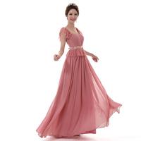 High Quality Mauve Long Design Toast Bride Married Formal Dress Evening Dresses LF340