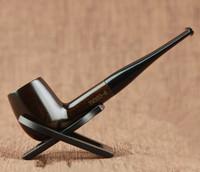 High Quality 9 Tools Set Ebony Wood Smoking Pipe 9mm Filter Smoking Pipe 15cm Straight Smoking Pipe Set YM360-6