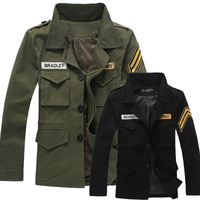 Free shipping wholesale 2014 new arrival autumn men's fashion military jackets , casual slim army jacket, men outerwear jackets