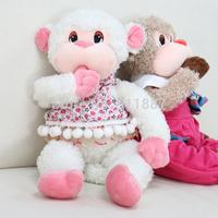 New 38cm Soft Doll Cuddly Toy Animal Stuffed Sucking Monkey Plush Kids Baby Decoration Toys For Gift