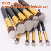 10 pcs professional  kabuki Makeup Brushset 10pcs Cosmetic  tools  professional Foundation kabuki make up Brushes  kit