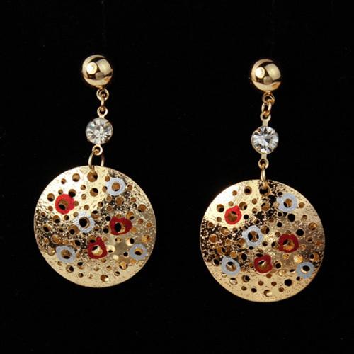 2014 New Big Drop Earrings Beautiful Design Dangle18K Gold Plated Fashion Women Earring (VITO E441)(China (Mainland))