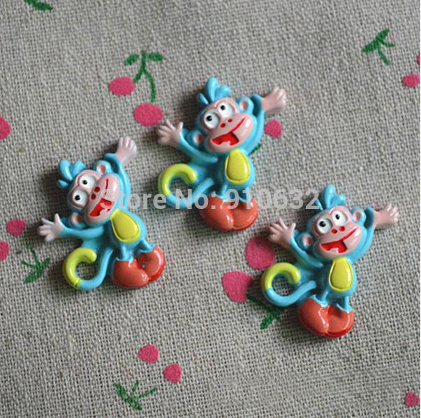 50pcs Resin Naughty Flatback Monkey For Scrapbooking Craft Hair Clip Decoration(China (Mainland))