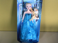 50 pcs beautiful   Frozen Elsa Princesss With Snowman Olaf Frozen Doll Toy With box