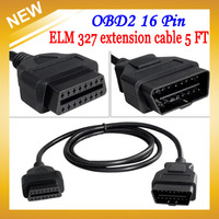 New OBD2 16 Pin Male to Female ELM327 OBDII Automotive Diagnostic Cable 5 FT (1.5m ), Free Shipping