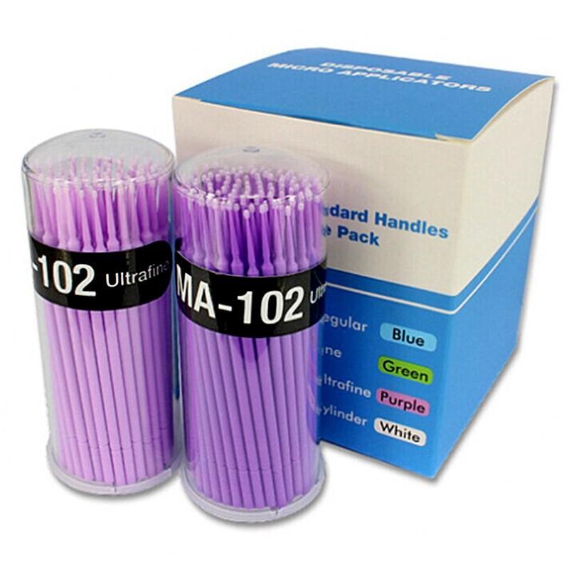 200pcs Disposable Swab Lint Free Micro Brushes Eyelash Extension Tool Individual Lash/Glue Removing Tools Free Shipping(China (Mainland))
