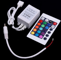 Free Shipping 24 Keys LED RGB Controler LED Lights Controller IR Remote Dimmer Input DC12V 6A For RGB SMD 3528 5050 LED Strip