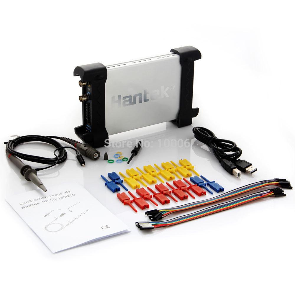 New Arrival 2014 Brand Hantek 6022BL 20MHz Bandwidth USB Oscilloscope Generator 16CH Logical Analyzer Free Shipping # 130177(Hong Kong)