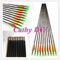 "12pcs 30""glass fiber arrow for recurve bow and traditional bow plastic Archery hunting arrow coat tips shootting and practicing"