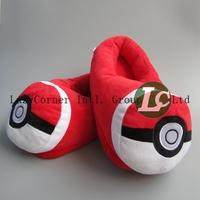 5pcs/lot Free Shipping Cartoon Slipper Pokemon Ash Ball  Slipper Pokemon Slippers 28cm