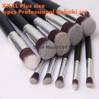 10pcs kabuki Makeup Brush set  high quality Facial  Eye blend  tools kit 10 pcs Professional Cosmetic Kabuki make up Brushes Set