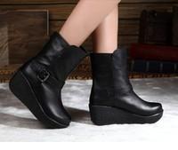 Woman High Platform Boots Short Boots Wedges Boot Winter Autum Shoes