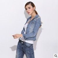 new 2014 Denim Short Jackets Outwear Jeans Coat Classical Jackets Women Fashion Jeans Blazer coats female Slim  jackets C1875