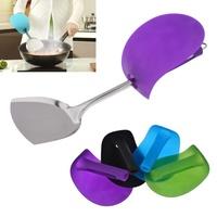 Anti Oil Splashing Cooking Spatula Stainless Steel & Spatula Grip Set Nolvelty Hand Protection Tool utensilios de cozinha