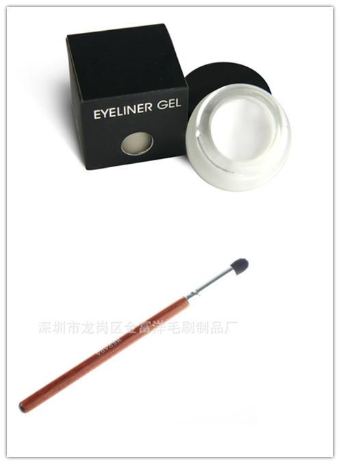 2013 Fashion Special Hot Sale White Waterproof Eye Liner Eyeliner Gel Makeup Cosmetic + Brush Makeup Set V106209 +V0240A(China (Mainland))