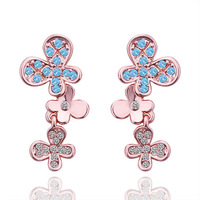 18K gold plated new brand stud earring  jewelry fashion crystal earrings for women 2014 gold earring