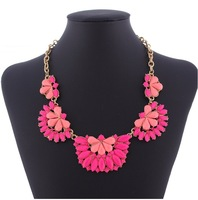 New 2014 Fashion Jewelry,New Design double-deck Resin Necklace Pendants