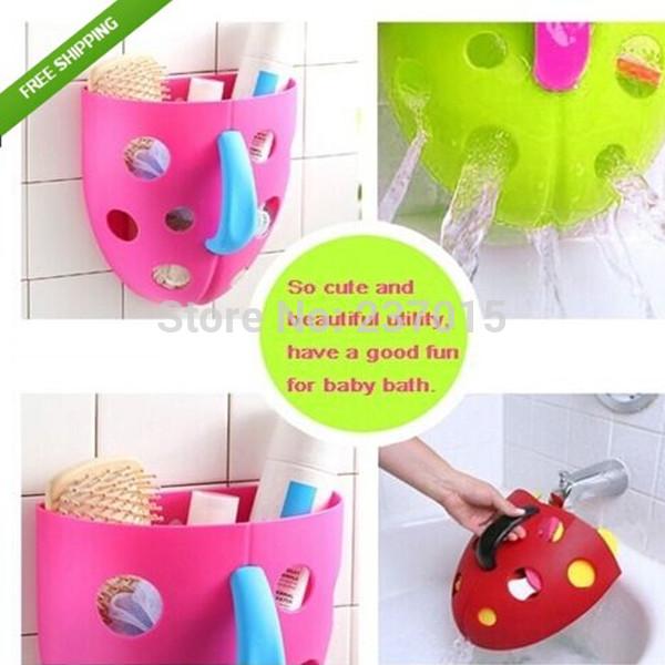 Rangement des jouets de bain de b b magasin darticles for Rangement baignoire bebe
