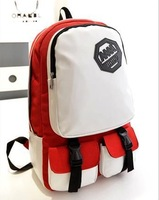 HOT! Fashion Canvas Backpack with hasp women and Men;s backpacks Students School Bag Travel Bag shoulder bags