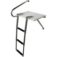 Boat Outboard Swim Platform Ladder Stainless Rails 3 Step Telescoping Ladder