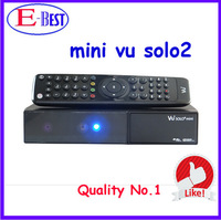 vu solo 2 Original Software twin tuner Satellite Receiver Linux 1300 MHz CPU Mini Vu solo2 free shipping