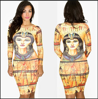 2014 New Fashion Women Casual  Print  Bodycon Evening Party Casual Pencil Dress 795