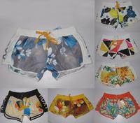 Retail spring new 2014 brand summer women's sexy mini beach sport female swimwear surf board shorts bermuda womens floral shorts