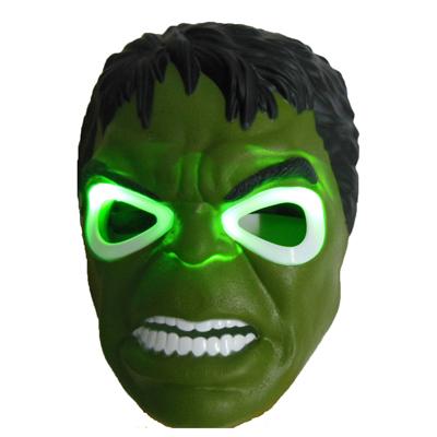 Hot Newest Wholesale 2pcs/lot  Hulk Mask Blue LED Eyes Halloween Toy for Children Boys Carnival Mask Free Shipping(China (Mainland))