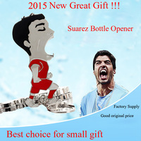 Good Fashion New Luis Alberto Suarez Diaz Bottle Opener Amazing Souvenir Item For 2014 Brazil World Cup Bar Hotel Party Gift