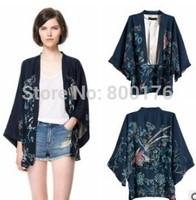Free shipping New Vintage Retro Boho Hippie Casual Chiffon Top Kimono Coat Cape Blazer Jacket