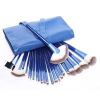 New Fashion! Professional Makeup Brushes Set 24 pcs Facial Cosmetic Blue Make Up Brush Set Free Shipping