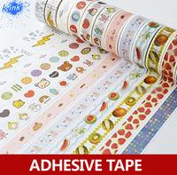 24pcs / set , fruit washi self-adhesive tape , cute children's cartoon masking tape for scrapbooking DIY decoration