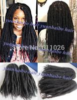 stock! 20in #1b black afro kinky twist cheap synthetic marley braid hair extension 100 kanekalon braiding free shipping