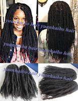 stock! 20in #1b black afro kinky twist cheap synthetic marley braid hair extension 100 kanekalon braiding free shipping