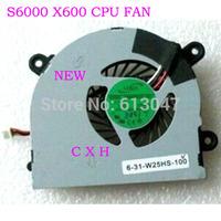 laptop cpu cooling fan cooler fan for MSI S6000 X600 CLEVO 7872 C4500 FAN AB6505HX-J03 AB6605HX-J03 6-31-W25HS-100 BS5005HS-U89
