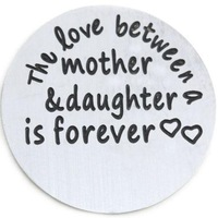 Wholesale - 10pcs Large 'Mother & Daughter Love' Stainless Steel Living Locket Plate
