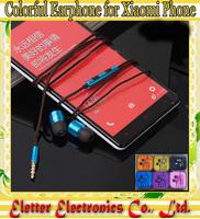 Colorful XIAOMI 3 Piston Headphone Metal Earphone For XIAOMI MI3 Mi2s 2 Hongmi Red rice Note free shipping