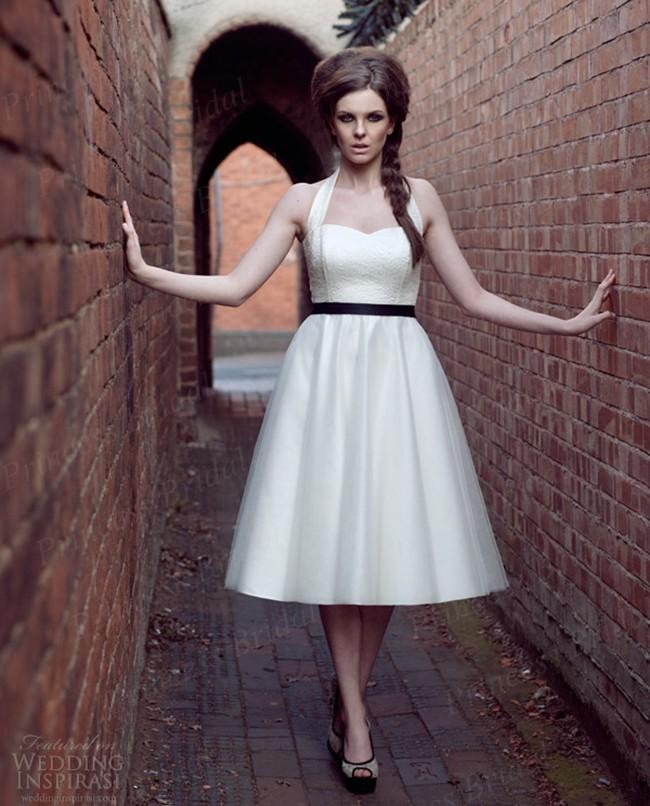 $ 8 Off Per $ 150 Venda Barato A- Line Halter altura do joelho vestido de noiva de tule curto WX11650(China (Mainland))