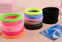 10pcs/lot 60mm Candy Colored Quality Elastic Ponytail Holders Hair Ring Accessories Girl Women Rubber Band Tie Gum(Mix Color)