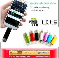 New 8GB 16GB 32GB Mini Smart Phone Tablet PC USB Flash Drive Pendrive OTG External Storage Micro 64g Memory Stick 2.0